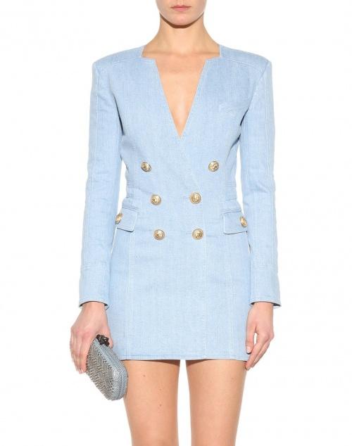 Balmain - Robe blazer jean