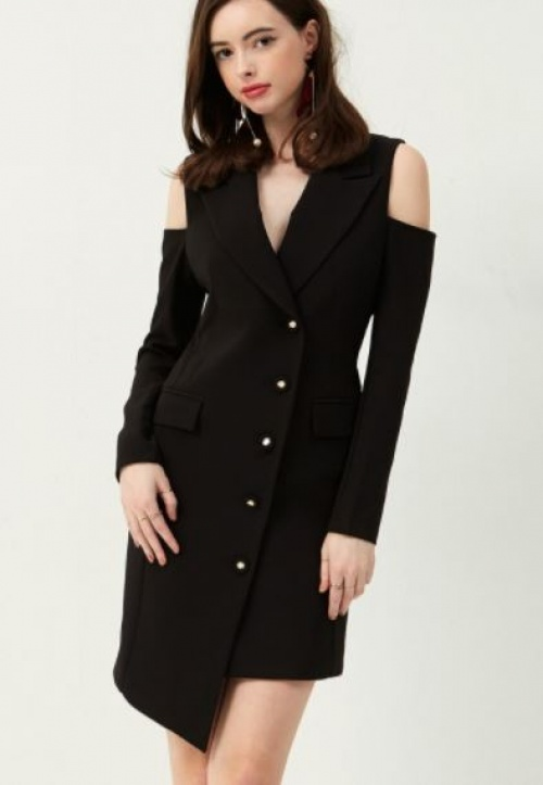 Storets - Robe blazer épaules dénudées