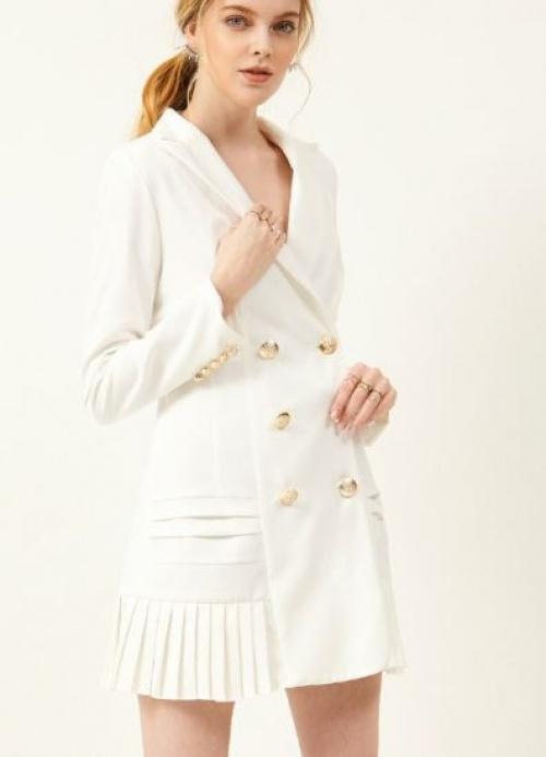 Storets - Robe blazer plissée