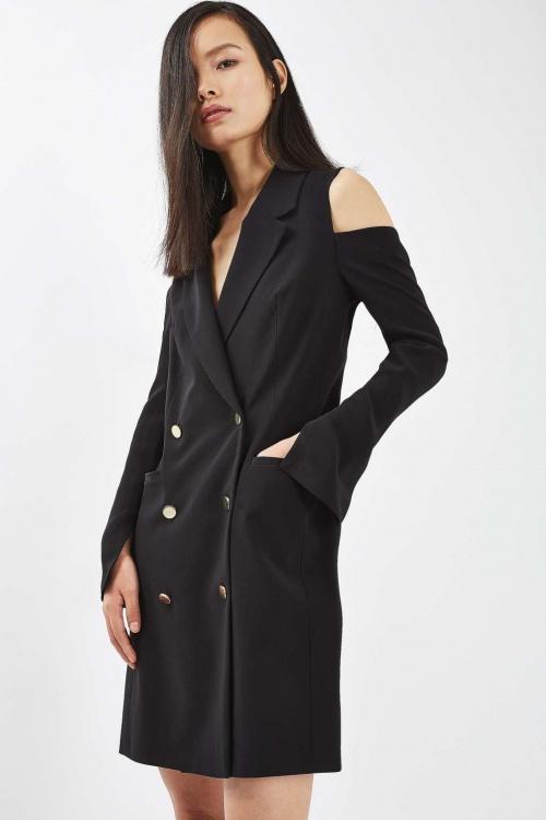 Topshop - Robe blazer épaules dénudées