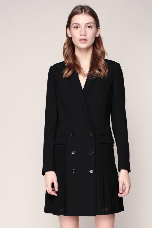 The Kooples - Robe blazer plissée