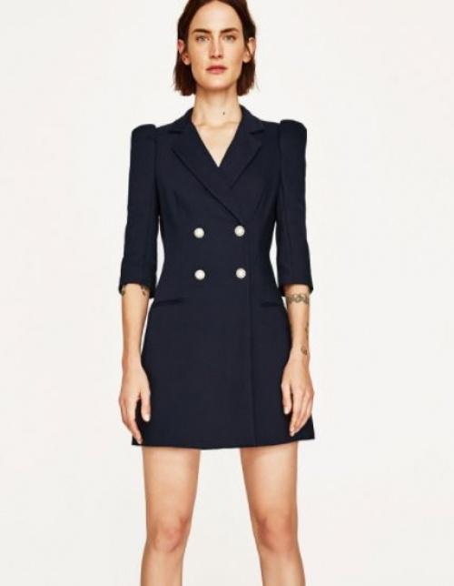 Zara - Robe blazer bleu marine