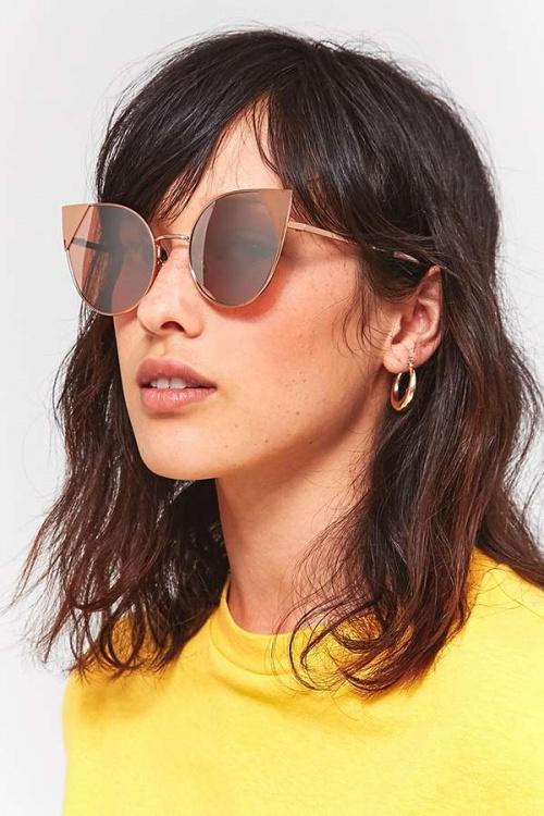 Urban Outfitters - Lunettes de soleil yeux de chat avec clips métalliques