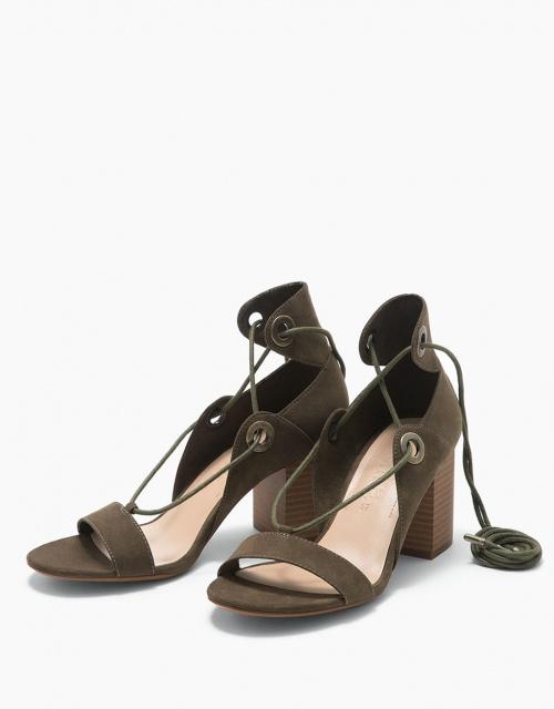 Bershka - Sandales lacées à talon