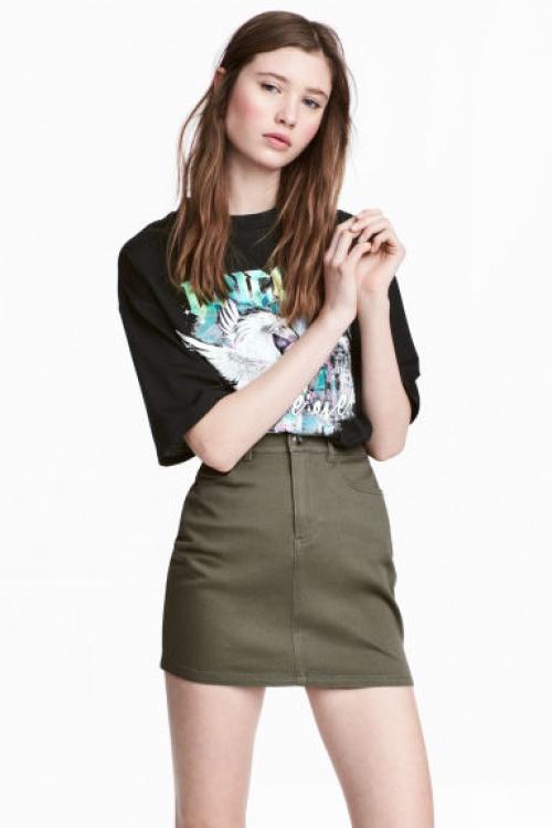 H&M - Jupe courte en twill