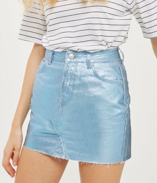 Topshop - Mini-jupe métallisée