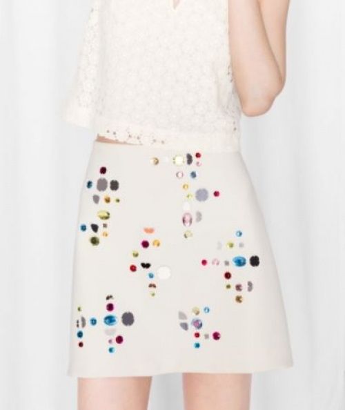 & Other Stories - Mini-jupe ornée