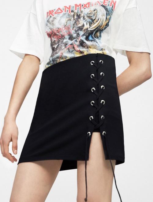 Pull & Bear - Mini-jupe lacée