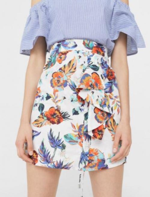 Mango - Mini-jupe fleurie