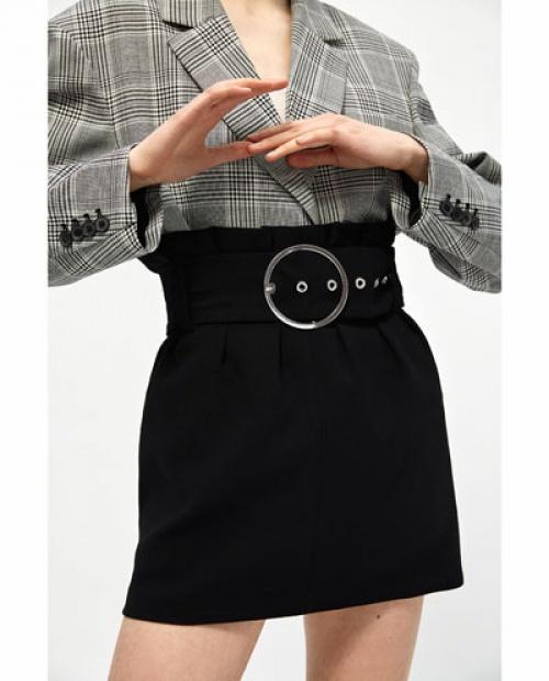 Zara - Mini-jupe à boucle