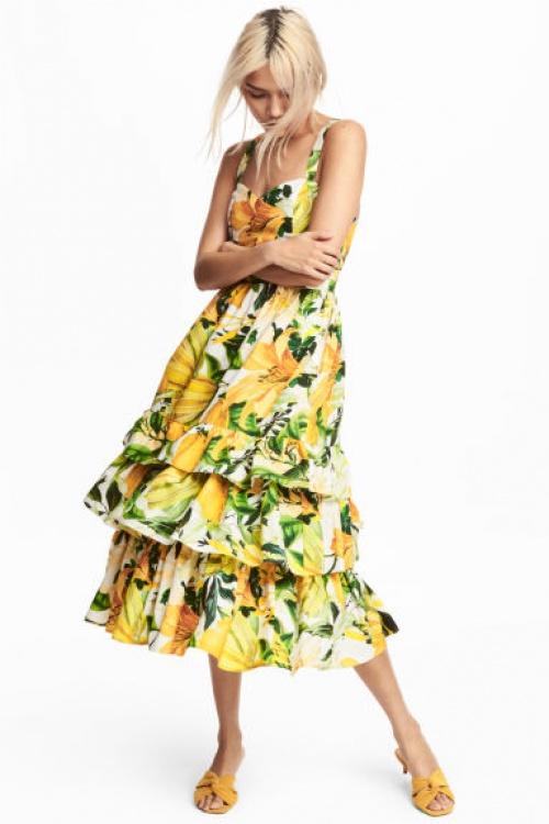 H&M - Robe imprimée citrons