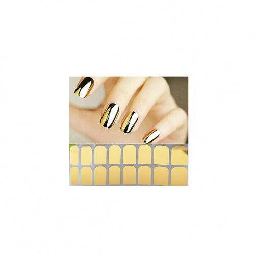 Patch nail-art doré miroir - Ewinever