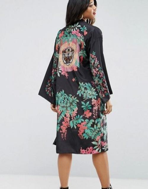 Asos - Kimono à broderie tigre