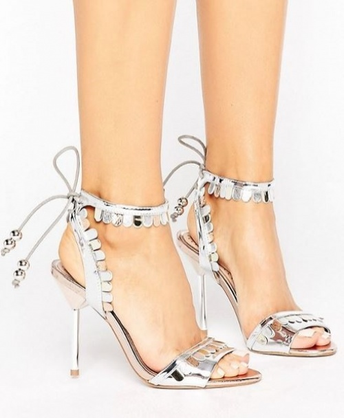 Miss KG - Freya - Sandales à talon métallisées avec nœud
