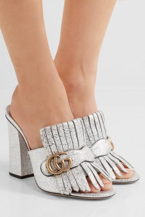 Gucci - Mules argentées