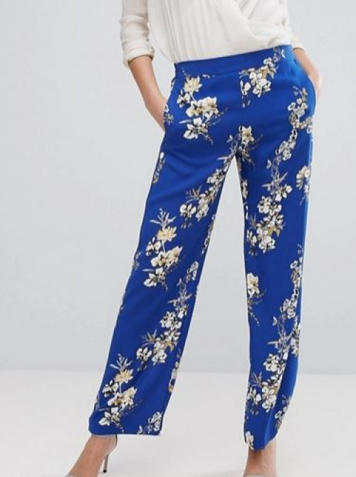 River Island - Pantalon large à imprimé floral