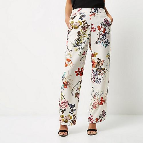 River Island - Pantalon fleurs