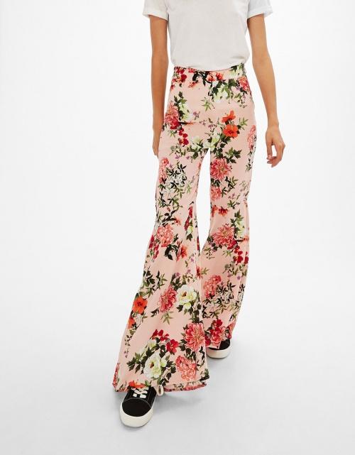 Bershka - Pantalon fleurs