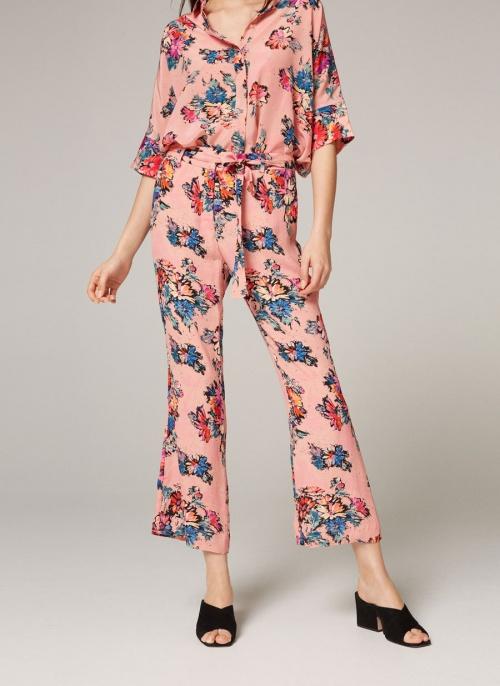 Uterqüe - Pantalon fleur