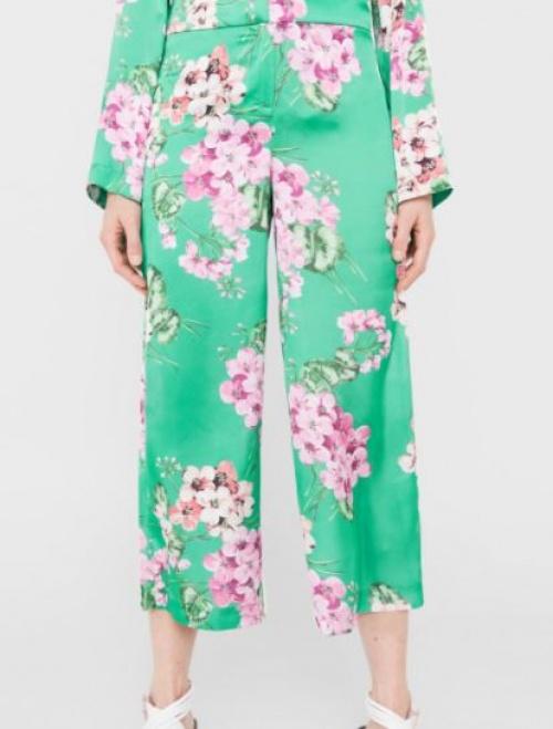 Mango - Pantalon fleurs