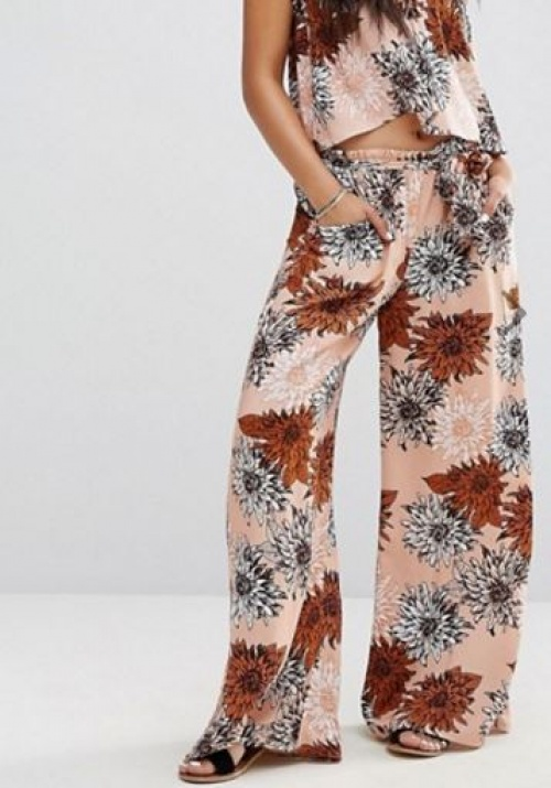Missguided - Pantalon large à fleurs rétro