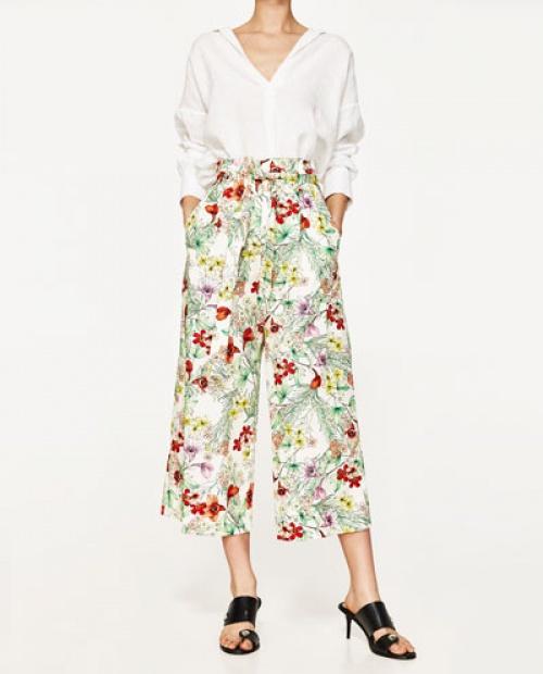 Zara - Pantalon jupe culotte