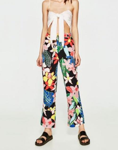 Zara - Pantalon fleurs