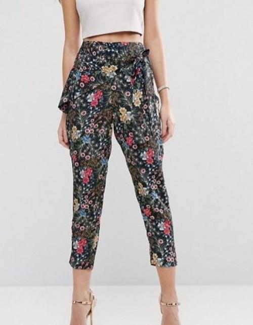 Asos - Pantalon avec lien à la taille