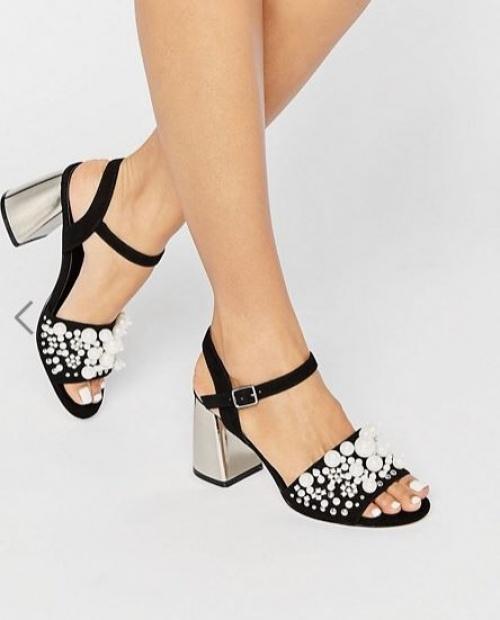 Asos - Sandales à talons ornées de perles