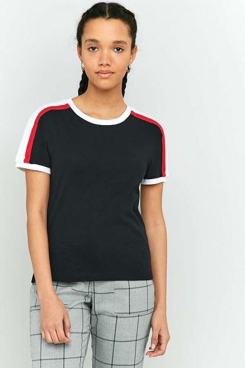 BDG - T-shirt sport rayé à encolure ronde