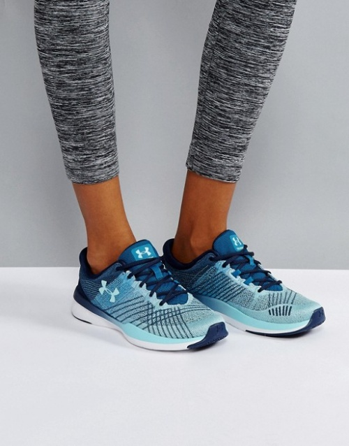 Under Armour - Training Push Threadborne - Baskets - Bleu marine