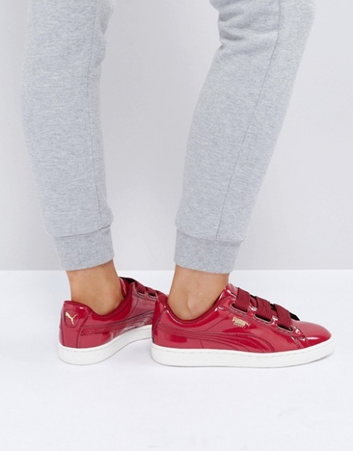 Puma - Basket Heart - Baskets vernies - Rouge
