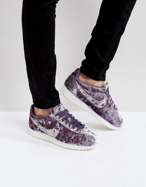 Nike - Cortez - Baskets en velours - Lilas