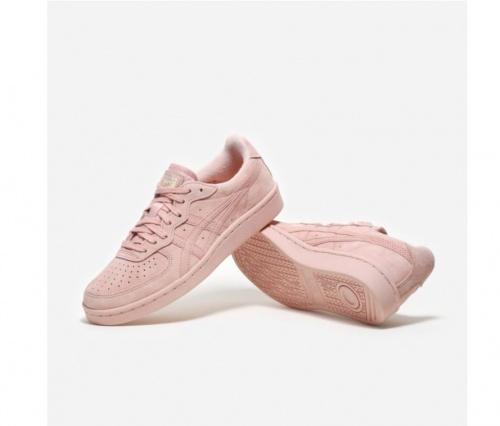 Baskets roses en suède