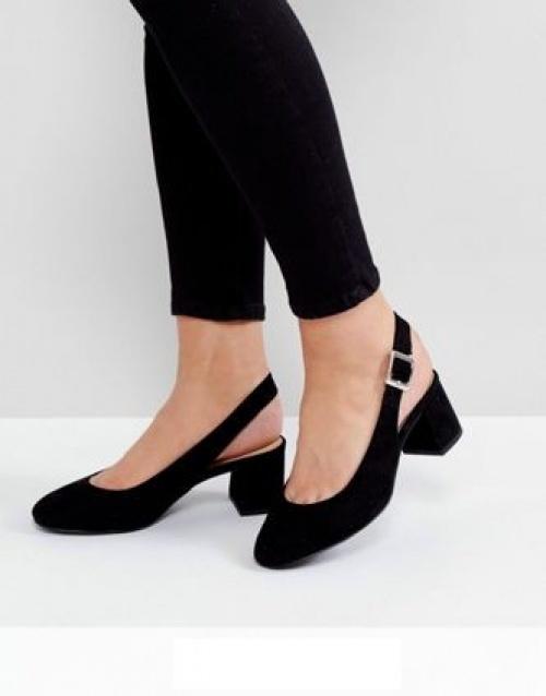 Chaussures à bride arrière et talons carrés