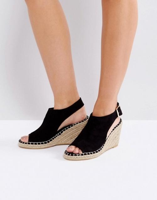 Vero Moda - Espadrilles peep toes compensées