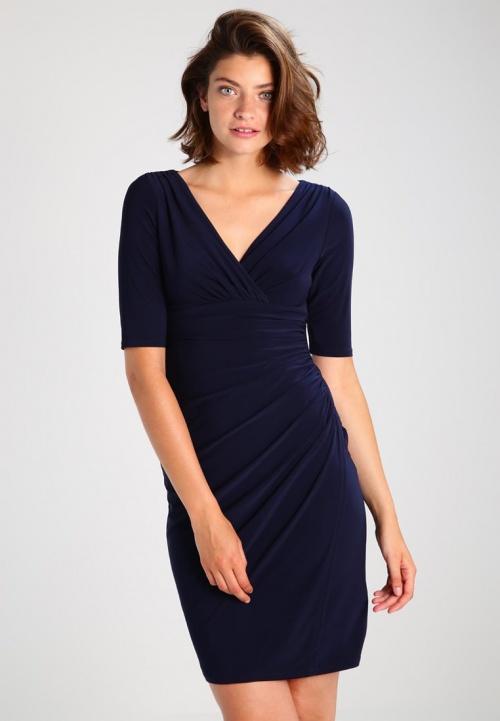 robe cache coeur bleu marine
