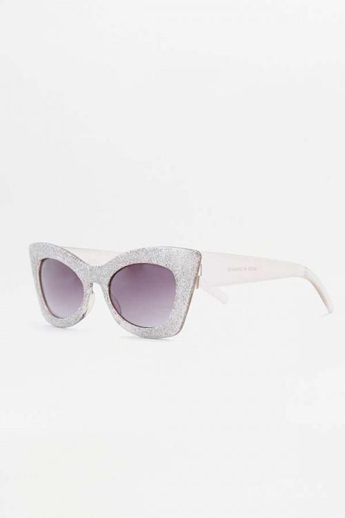 Urban Outfitters - Lunettes de soleil œil de chat à paillettes