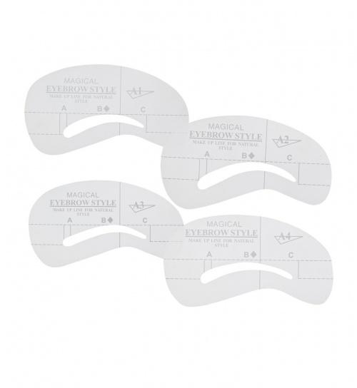 Kit de 4 pochoirs à sourcils - Boolavard