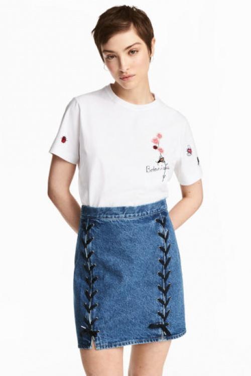 Jupe en jean lacée
