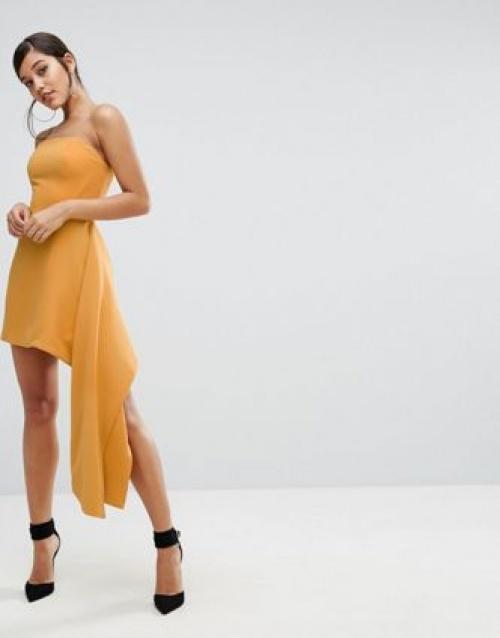 Robe bustier jaune