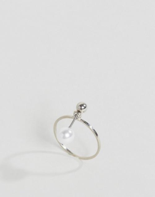 Asos - Bague barre avec perle
