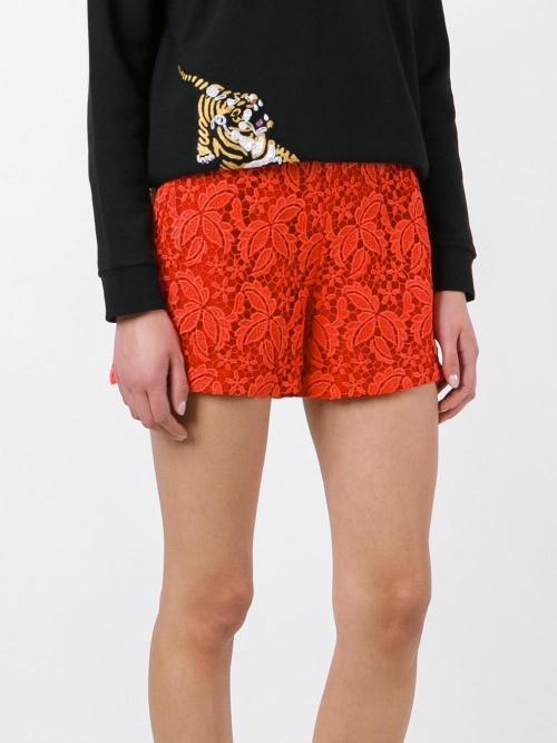 Short mini-short à fleurs