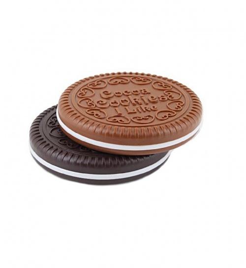 Miroir de Poche En Forme De Biscuits Chocolat - Sanwood