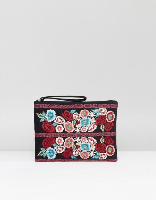 Reclaimed Vintage Inspired - Pochette brodée de fleurs