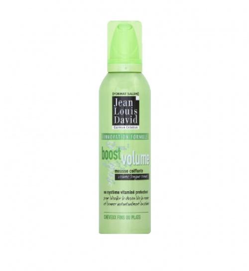 Mousse coiffante au système vitaminé protecteur, volume longue tenue, cheveux fins ou plats - Jean Louis David