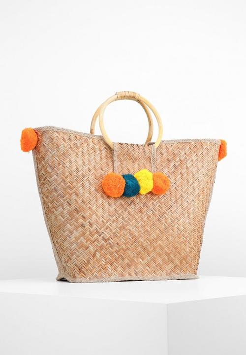 sac de plage à pompons