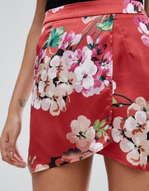 jupe culotte fleurie