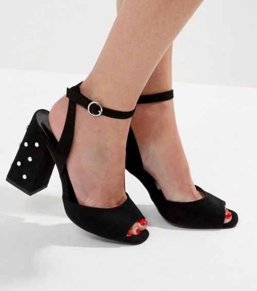Sandales à talons perles