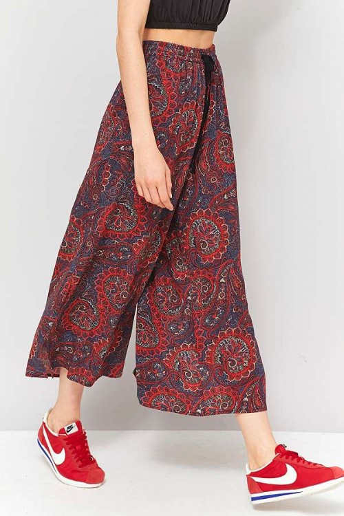 Staring At Stars - Jupe-culotte froissée motif cachemire rouge